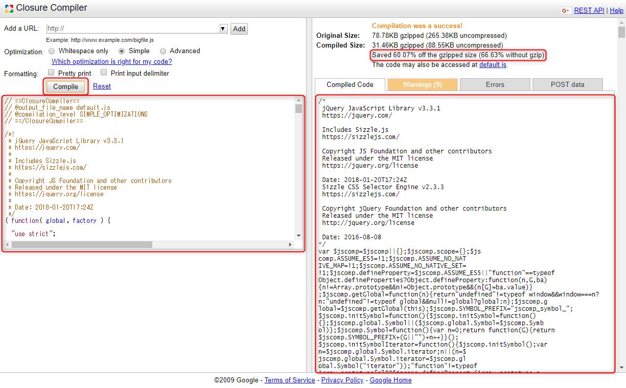JavaScriptの難読化・圧縮を行うClosure Compiler | 東京都渋谷区のシステム開発・アプリ開発 ...